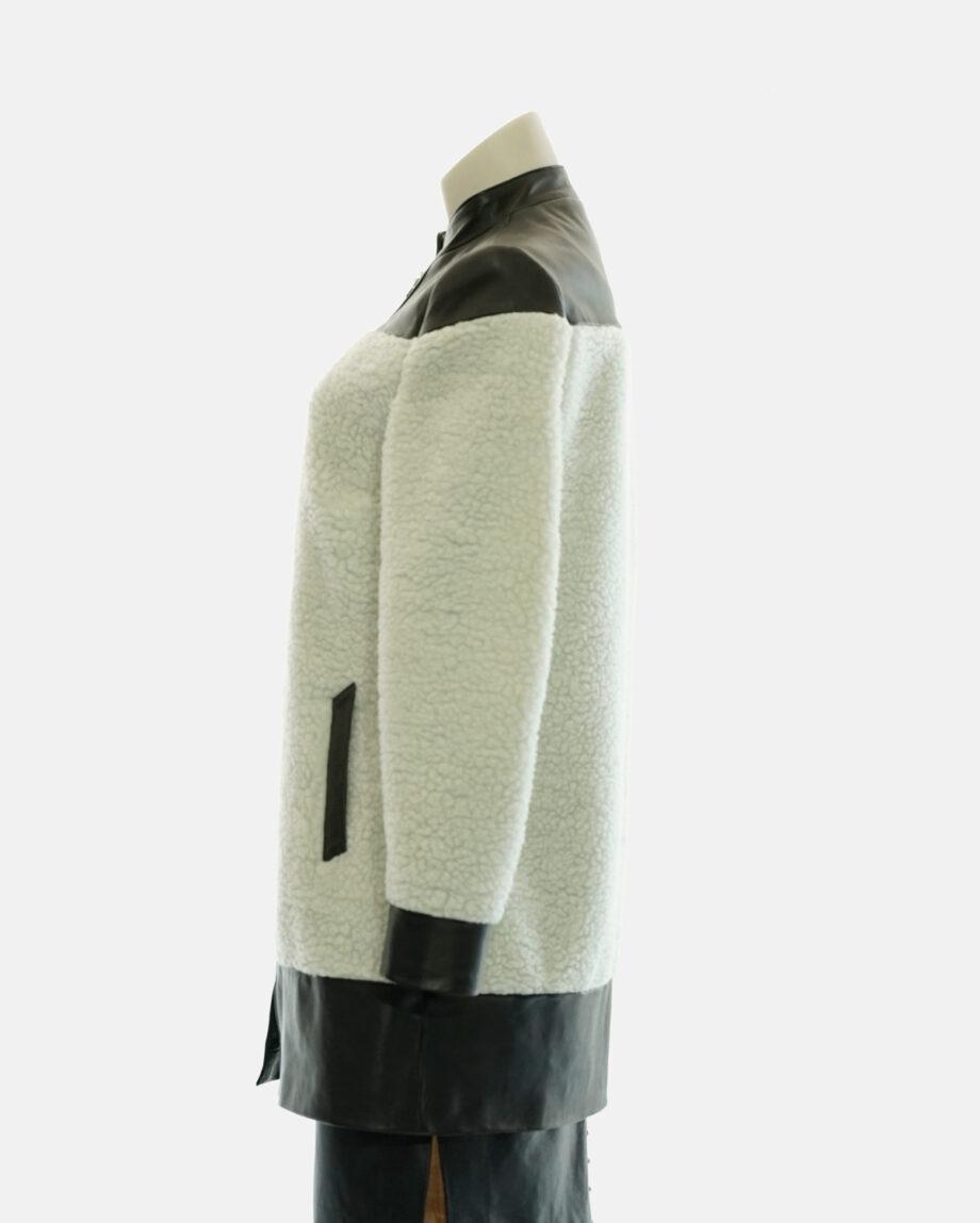 abrigo de pelo borreguillo blanco