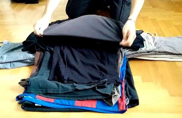 doblar ropa para maleta