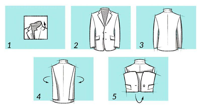 como doblar chaqueta